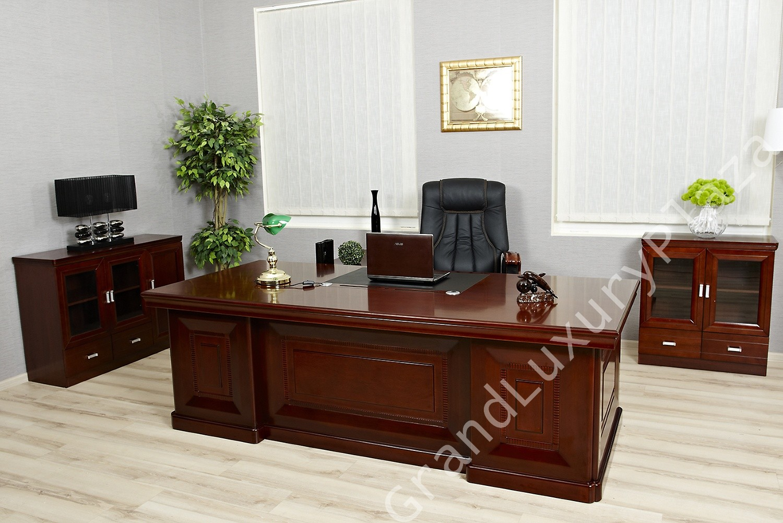 Scrivania tavolo ufficio studio presidenziale direzionale for Ufficio completo offerte