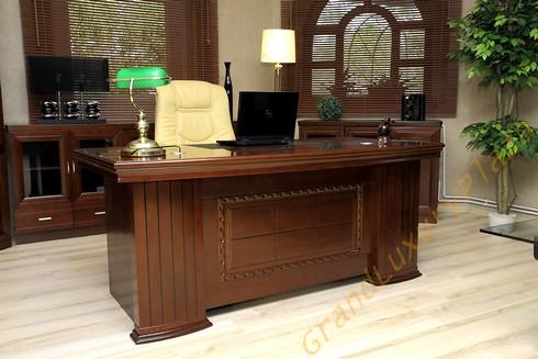 bureau classique ensemble de cabinet diamante 1 8m grand luxury plaza. Black Bedroom Furniture Sets. Home Design Ideas