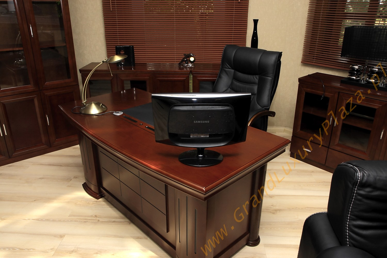 Eleganckie stylowe biurko gabinetowe prestige 1 6m stara for Mobili studio legale