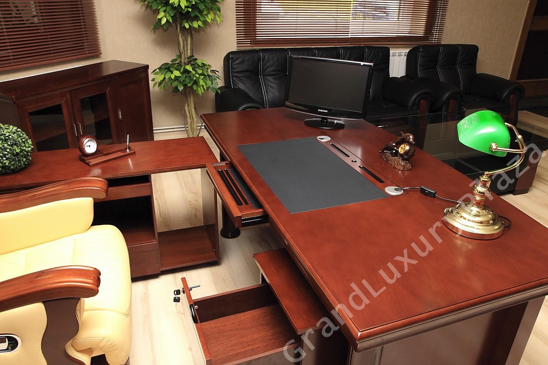 Scrivania Ufficio Elegante : Scrivania tavolo ufficio studio presidenziale direzionale porta pc