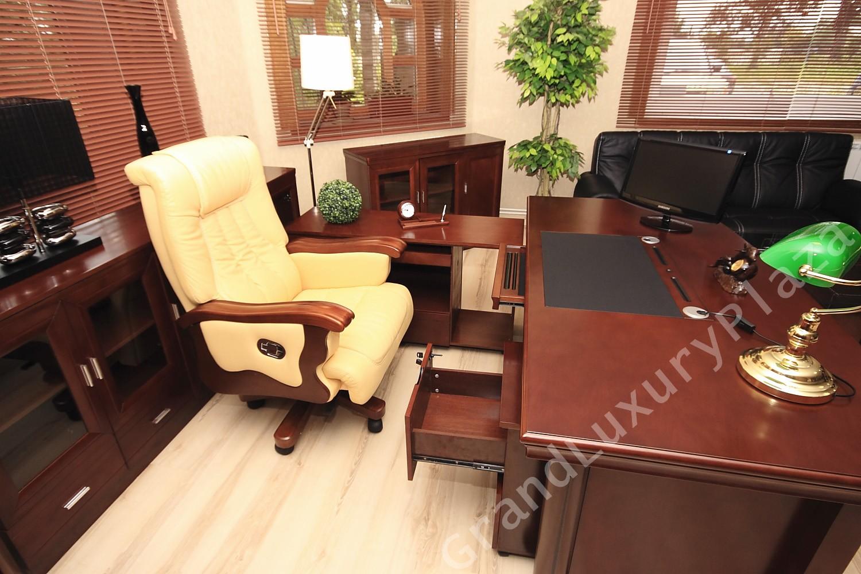 Schreibtisch b roschreibtisch mit container und for Scrivania avvocato