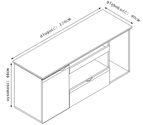 Eleganckie stylowe biurko gabinetowe prestige 1 6m for Largeur bureau