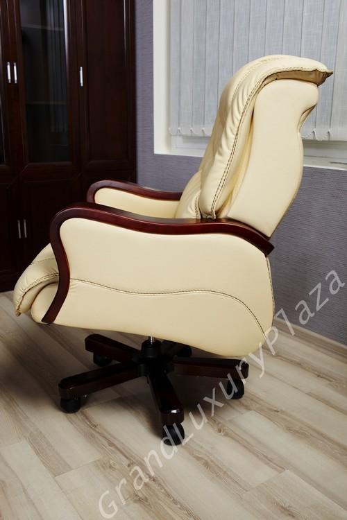 Sedia in pelle beige
