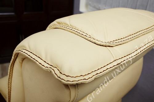 Sedie da ufficio con cuscini in pelle