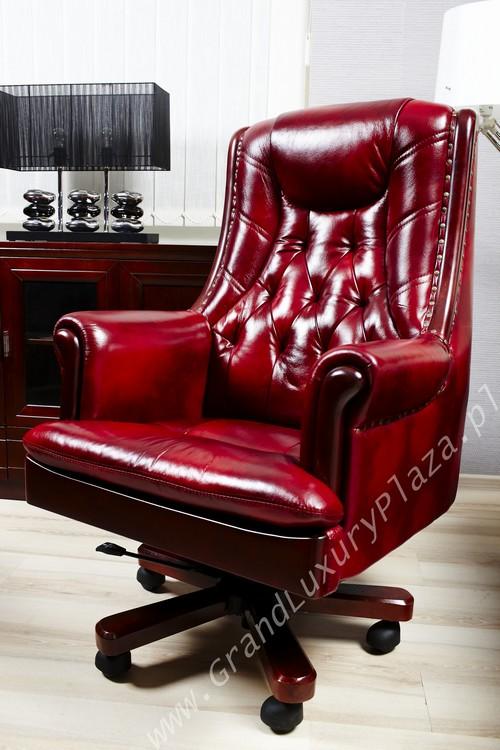 Confortable Fauteuil Pivotant De Bureau En Cuir Retro Grand Luxury Plaza