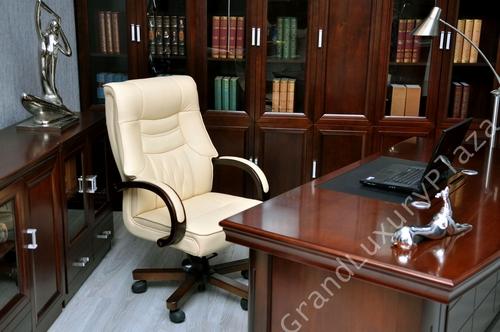 Poltrona Sedia Presidenziale Direzionale Pelle Ufficio Studio Conferenza Casa Girevole