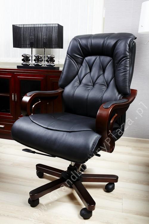 confortable fauteuil pivotant de bureau en cuir makler. Black Bedroom Furniture Sets. Home Design Ideas