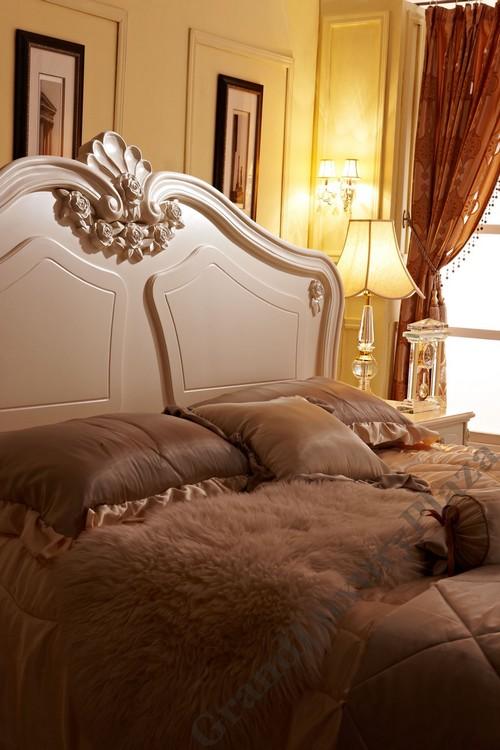 Chambre coucher lit lattes cadre de lit l gant blanc for Temperature chambre a coucher