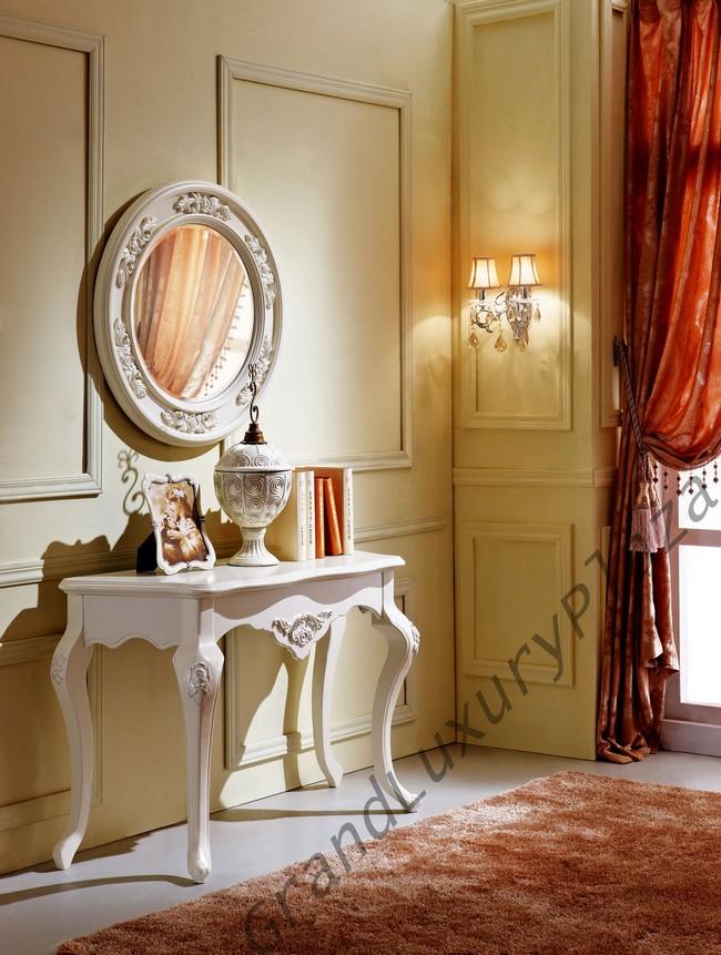 coiffeuse sans miroir meuble design style blanc bois. Black Bedroom Furniture Sets. Home Design Ideas