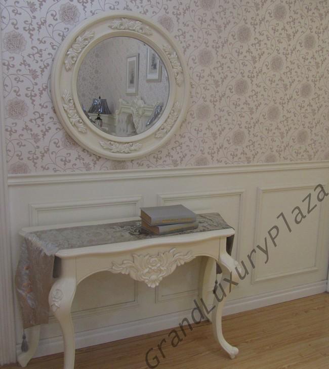 coiffeuse sans miroir meuble design style blanc bois bella 921 ebay. Black Bedroom Furniture Sets. Home Design Ideas