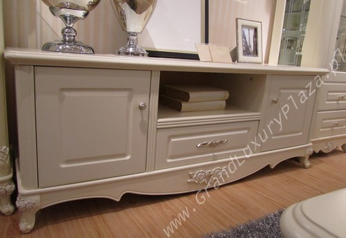 Commode table tv design style blanc bois bella 927 ebay - Commode en bois blanc ...