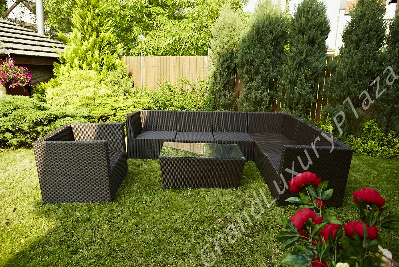 gartenm bel rattan rattanm bel terassenm bel wetterfest montenero ebay. Black Bedroom Furniture Sets. Home Design Ideas