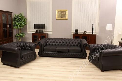 Ufficio Divano Nero : Salotto divano poltrone sofà in pelle per ufficio studio casa salone